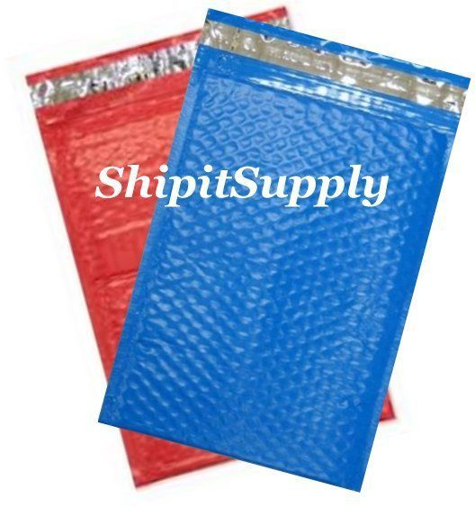2-500 #000 4X8 Poly ( Red & Blue ) Color Bubble Padded Mailers Fast Shipping