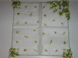 Vintage Unused Oak Leaf Acorn Hankie - Label Still Attached - $9.99