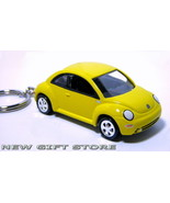 KEY CHAIN 1999~2011 VW NEW BEETLE YELLOW BUG COX PORTE CLE - $34.95