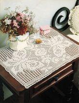 Exotica Butterfly Birds Alighting Mats On Eagle Wings Bedspread Crochet Pattern - $6.99