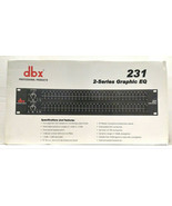 DBX Professional Products 231 2-Series Graphic EQ New Old Stock - $399.99