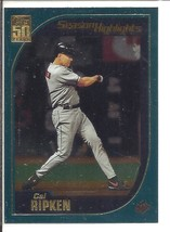 (SC-19) 2001 Topps Baseball Card #387: Cal Ripken / Season Highlights- Chrome - $1.25