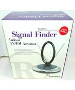 Radio Shack Amplified Signal Finder indoor TV/FM antenna 15-1870 w/AC Br... - $45.92