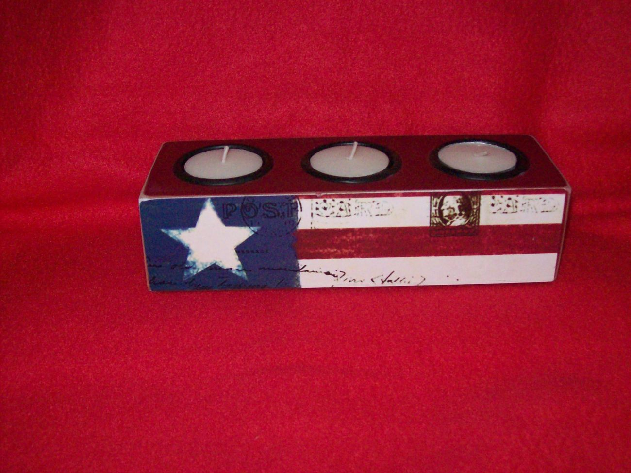 Patriotic t-light candle holder