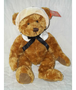 "RUSS BERRIE PLUSH 13"" GOLD THANKSGIVING BEAR MAYFLOWER RET NWT MINT MSRP... - $23.94"