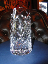"""Faberge Crystal Glass  5"""" tall with 2 7/8"""" opening new without box - $150.00"""