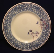 PIER 1 Blueberry Spray Dinner Plate Earthenware England Blue with White ... - $12.38