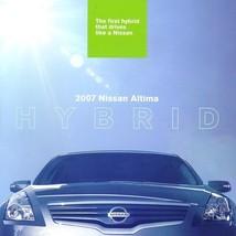 2007 Nissan ALTIMA HYBRID sales brochure catalog US 07 - $9.00