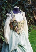 Renaissance Tapestry Bodice Wench Outfit - $140.00