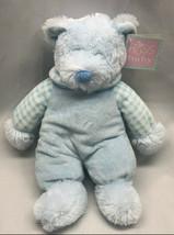 "Russ Baby Rattle Pals 12"" plush & velour blue bear rattle toy teddy bear NWT - $49.49"