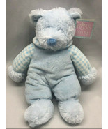 "Russ Baby Rattle Pals 12"" plush & velour blue bear rattle toy teddy bear... - $49.49"