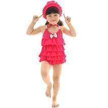 Cute Baby Girls Beach Suit Lovely Dress Swimsuit 1-2 Years Old(80-90cm)