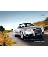 2007 Audi A4 S4 CABRIOLET brochure catalog US 07 2.0T 3.2 - $10.00