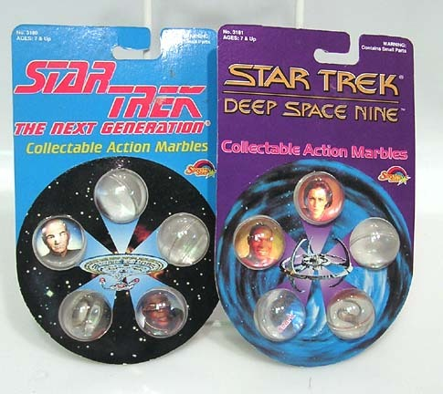 Lot 2 Sets Marbles STAR TREK Next Gen & DS9 Mint