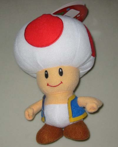 Super Mario Brothers Series 2: Toad 6 Inch Tall Plush NEW!