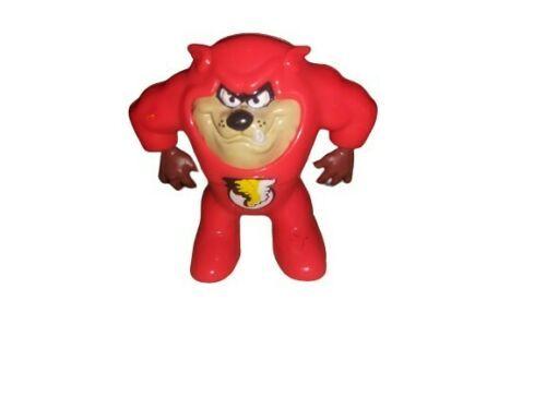 Vtg 1991 Warner Bros Looney Tunes Tasmanian Devil Taz Plastic Red Suit Figurine - $4.94