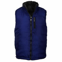 Maximos Men's Reversible Full Zip Puffer Vest New /w Defect Black/Navy size M image 3