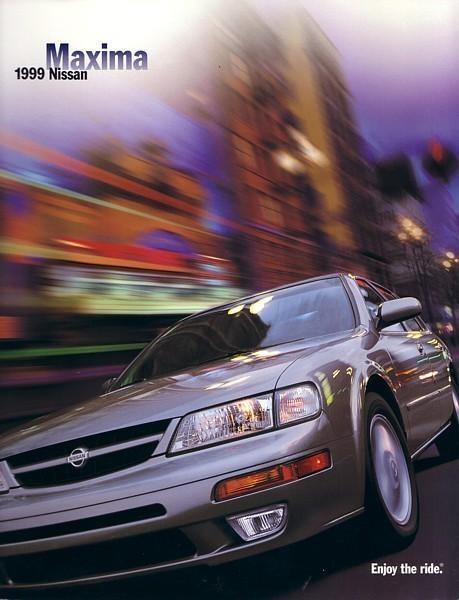 1999 Nissan MAXIMA Sales Brochure Catalog US 99 GXE SE GLE