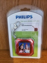 PHILLIPS RED 1.5 INCH SCREEN PHOTO KEY CHAIN HOLDS 100 PHOTOS - $10.00