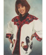 Easy Iron-On Rooster Chicken Jacket Pattern by Debbie Rodgers  - $8.95