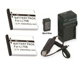 TWO 2 Batteries + Charger for Olympus FE4020 FE4040 VG110 VG120 VG130 VG140 - $26.90