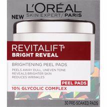 L'oreal Revitalift Bright Reveal 30 Brightening Pre-Soaked Peel Pads - $13.95