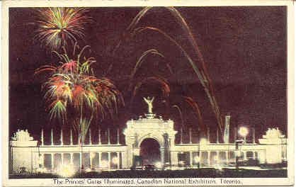 Canadian Exhibition Toronto Fireworks Display Souvenir Post Card