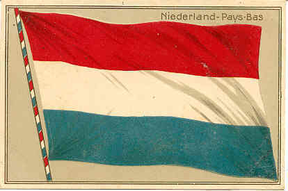 Niederland-Pays-Bas flag post card.