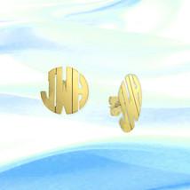 Personalized Earrings - 1/2  inch Monogram Earr... - $69.99