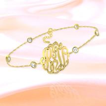 Monogram Bracelet  7 inch 24K Gold Plated Sterl... - $79.99