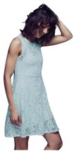 $128 Free People Miles of Lace Fit & Flare Dress & Slip XSmall 0 2 Sky B... - $63.60