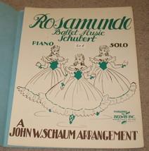 Rosamunde Ballet Music Sheet Music - Schubert - 1944 - $8.75