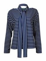 Lauren by Ralph Lauren Womens Blue Striped Boatneck Blouse X-large XL 44... - $13.88