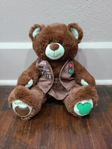 """Build A BEAR GIRL SCOUTS Thin Mint 15"""" Plush  With Uniform - $19.34"""