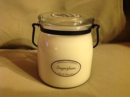 Jar Candle Organic Beeswax Soy Blend Made in USA Sugar Plums (Large Butter Jar -
