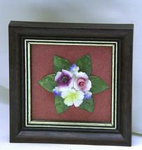 Vintage 1980s ROYAL ADDERLEY Fine Bone China Framed Floral Handmade/Hand... - $6.73