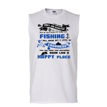 If You Mess Me While I'm Fishing Shirt, Cool Fishing Shirt (Men's Cotton Sleevel - $16.99+