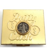 Vintage Petty Cash Gold Tone New York City Empire State Building Coin Bo... - $22.76