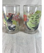 Set of Two McDonalds 2007 Shrek the Third Collectors Glasses Shrek & Marty - $18.53