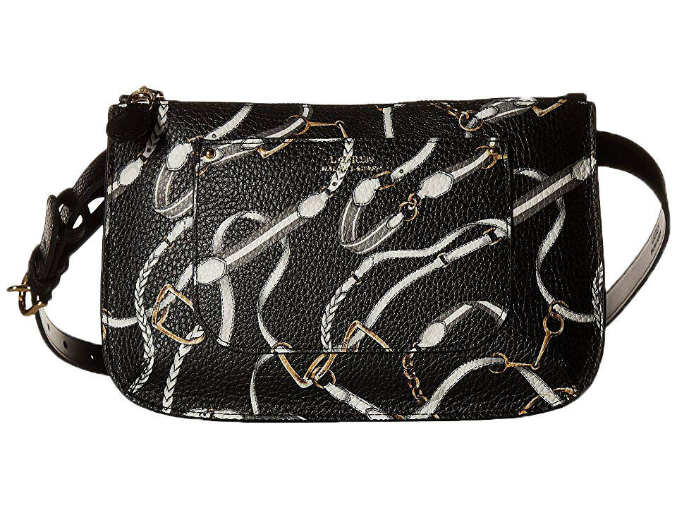 Primary image for Ralph Lauren Women's Signature Print Belt Bag (Black, L)