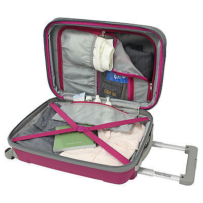 """Beverly Hill Country Club Malibu Newport 28"""" Pink Light Spinner Suitcase Luggage"""