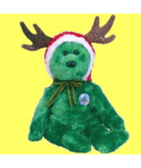 Ty Beanie Baby 2002 Holiday Teddy Green Bear Collectible - $5.00