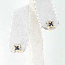 David Yurman Venetian Quatrefoil Earrings Blue Sapphires Diamond 18K Yellow Gold - $1,188.25