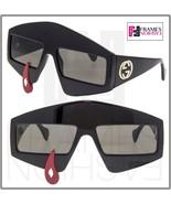 GUCCI HOLLYWOOD FOREVER 0359 Geometric TearDrop Black Sunglasses GG0359 ... - $494.01