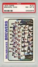 1973 Topps Milwaukee Brewers Team #127 PSA 8 P691 - $14.50