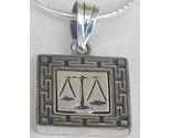 Libra zodiac silver  pendant thumb155 crop