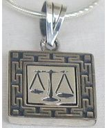 Libra zodiac silver  pendant - $25.00