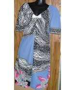 Vintage 70s MOD abstract Dress w/slit in front - $73.99
