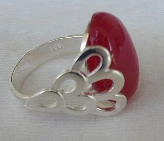 Primary image for Red and silver ring A