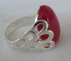 Red and silver ring A - $31.00